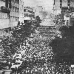 MEK peaceful rally-More than a half million MEK (PMOI) supporters attended a rally in Tehran on June 20, 1981, to protest against the mullahs' encroaching totalitarian policies and support freedom and democracy.