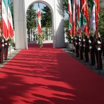 Maryam Rajavi receives a formal welcome in MEK compound in Albania