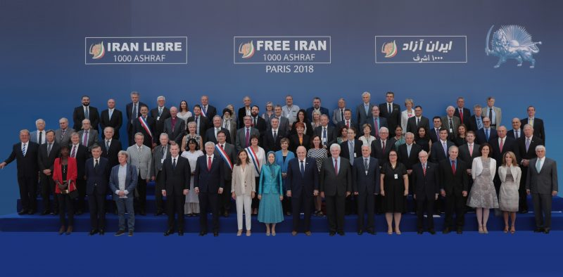 Highest personalities and officials of various countries join MEK rally to support a Free Iran