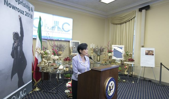 Congresswoman Judy Chu (D-CA), Speaking at OIAC Nowruz celebration at the Capitol Hill- March 2018
