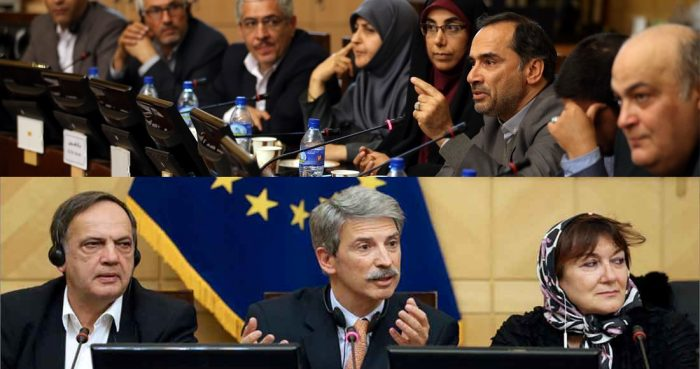Anna Gomes, MEP attends Habilian (MOIS) meeting during her recent visit to Tehran (February 2018)