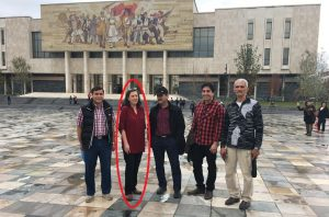 Anne Singleton, a known agent of Iran's Ministry of Intelligence (MOIS), visits Albania to try to recruit new agents for MOIS