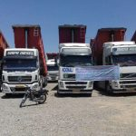 Truck and lorry drivers go on strike in Iran.