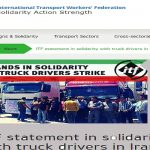 ITF's solidarity message to the striking truck drivers in Iran