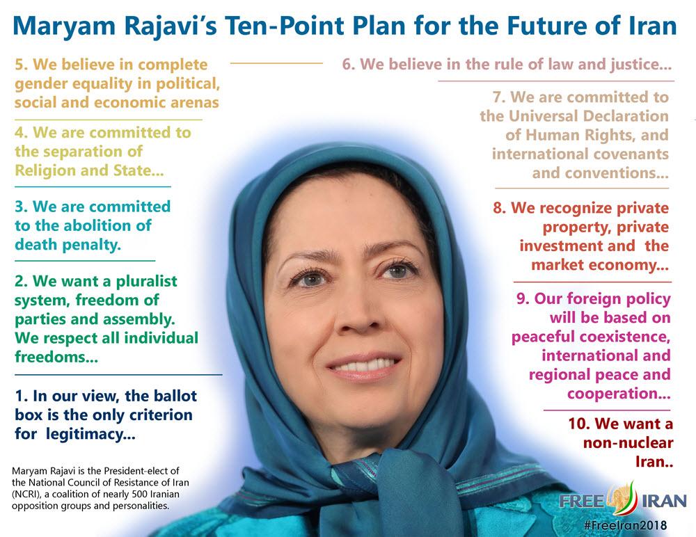 Maryam Rajavi's ten point plan