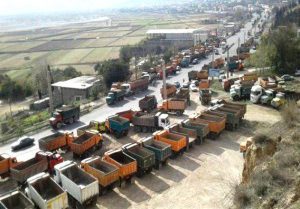 Second round of strikes by truck drivers in Iran