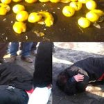 Iranian regime security forces attack street vendors