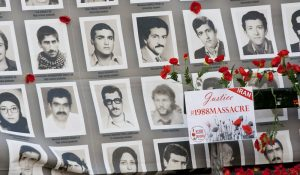 The photos of some of the victims of the 1988 massacre