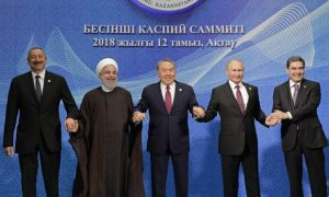 The Caspian sea summit-Iranian regime gave away the country's resources in order to keep in power longer