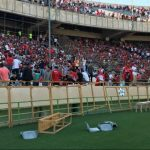 Large demonstration at Azadi Stadium against the Iranian regime.