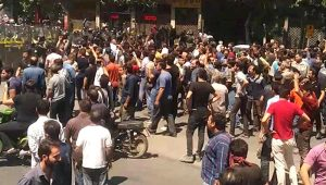 Rally in Isfahan against the dire economic situation.