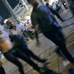 Iranian regime plain cloth forces arrest a young protester in Iran