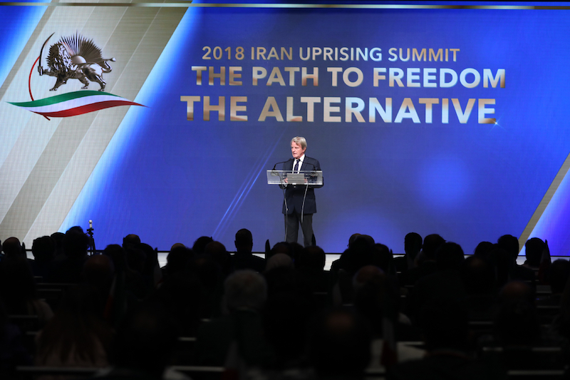 Dr. Bernard Kouchner, addressing MEK supporters in New York-Free Iran Summit