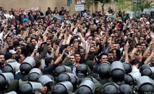 IRGC Basij forces cracking down on Iran protesters