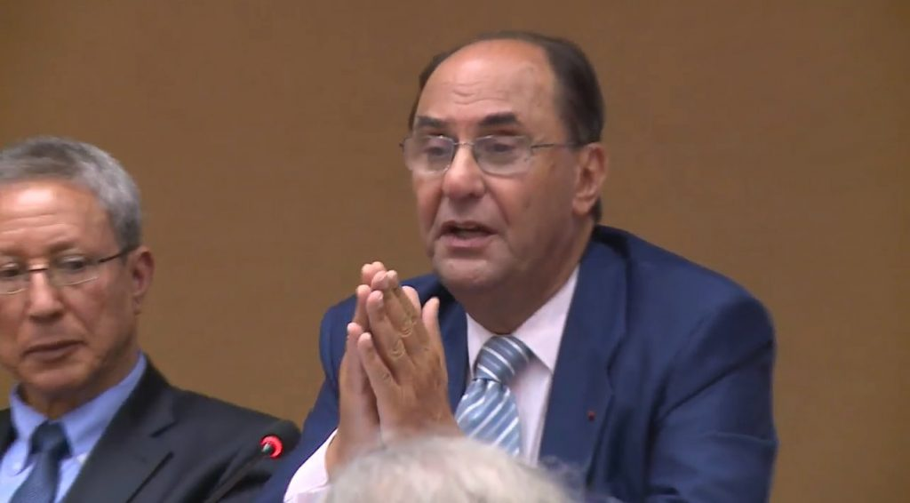 Dr. Alejo Vidal Quadras Speaks at Geneva conference on 1988Massacre of political prisoners in Iran