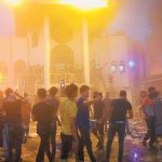 Iranian regime's consulate in Basra set to fire by angry Iraqi protesters