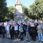 MEK supporters protest against the criminal execution of