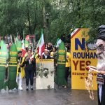 MEK supporters Rally in New York against Rouhani's presence at the UNGA