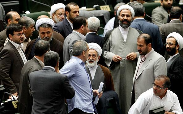 Infighting at Iranian regime's parliament
