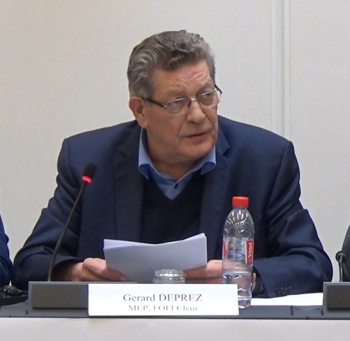Gérard Deprez MEP, speaking at a meeting on the occasion of the World Day Against Death Penalty