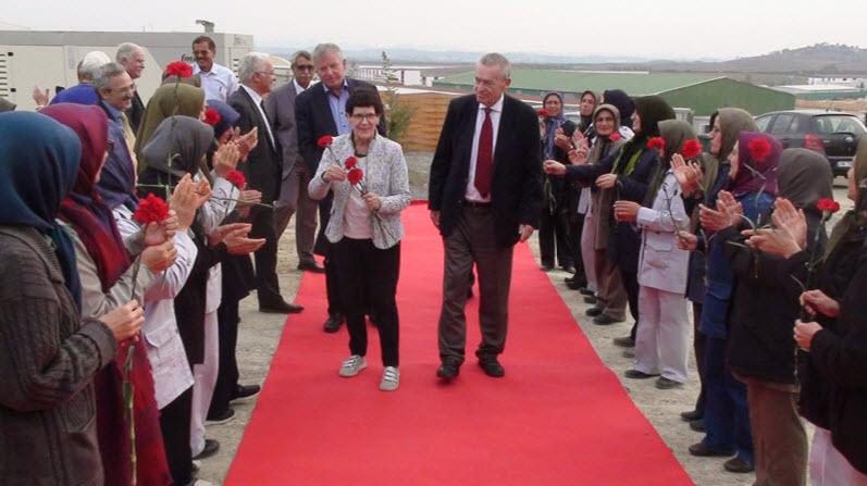 German delegation visit MEK residence in Albania