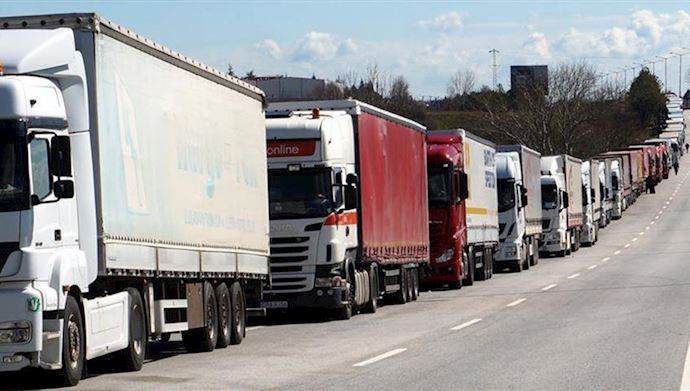 Labor Unions object death penalty for striking truck drivers in Iran