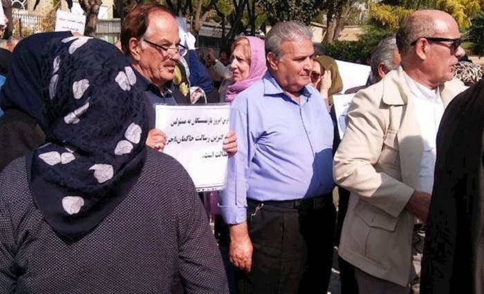 Retirees protest in Iran