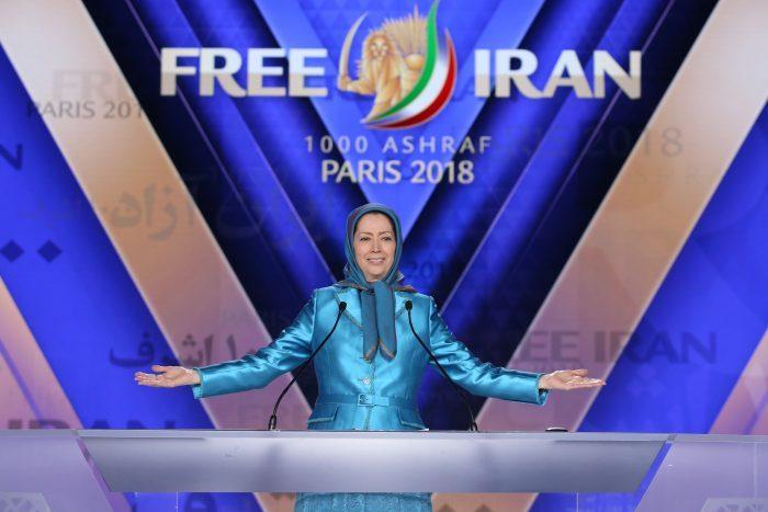 Maryam Rajavi, the leader of Iran opposition, speaking at Free Iran Rally in Paris- June 2018