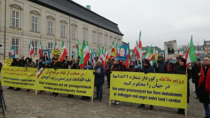 MEK supporters demonstrate in Denmark