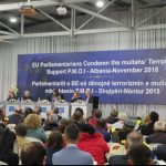 Eueropean delegation participate at a conference in Tirana, Albania, discussing the Iranian regime's rise in terrorist activities in Europe.