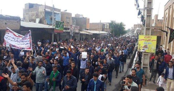 Demonstration in the city of Shush