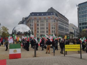 Iranians protest against Iranian regime's terrorism in Europe and demand action from EU Ministers