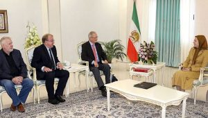 The European Parliament delegation meets with Maryam Rajavi