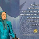 President-elect, Maryam Rajavi's message after the 65th resolution of the UN Third Committee of the Human Rights.