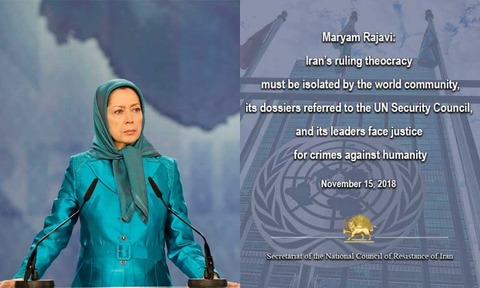 President-elect, Maryam Rajavi's message after the 65th resolution of the United Nations General Assembly's Human Rights Committee condemning the continued human rights violations in Iran