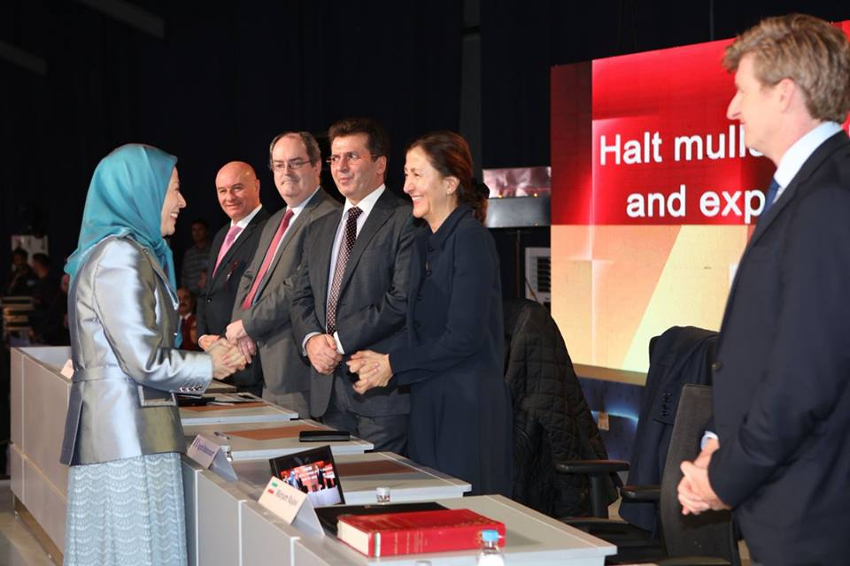 Maryam Rajavi joins the panel of speakers in Tirana Conference