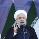 Hassan Rouhani speaking at the Army day
