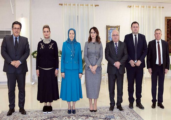 Albanian Parliamentary delegation meet with Maryam Rajavi