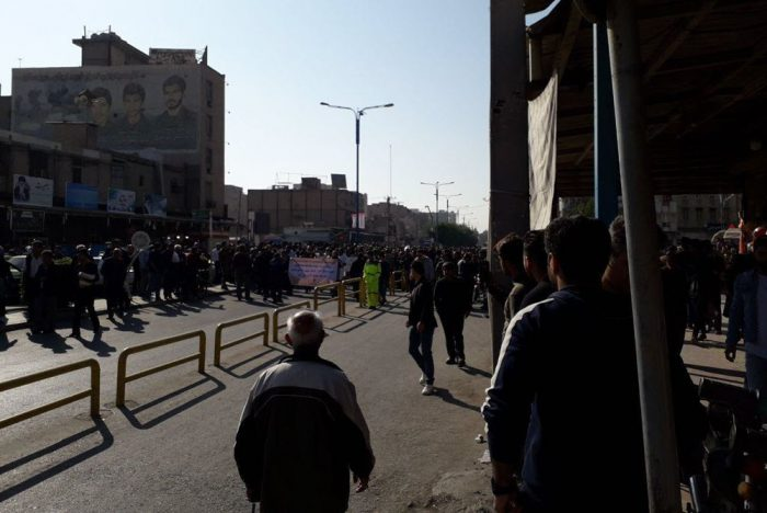 The 38th day of protest by SteelWorkers in Ahvaz