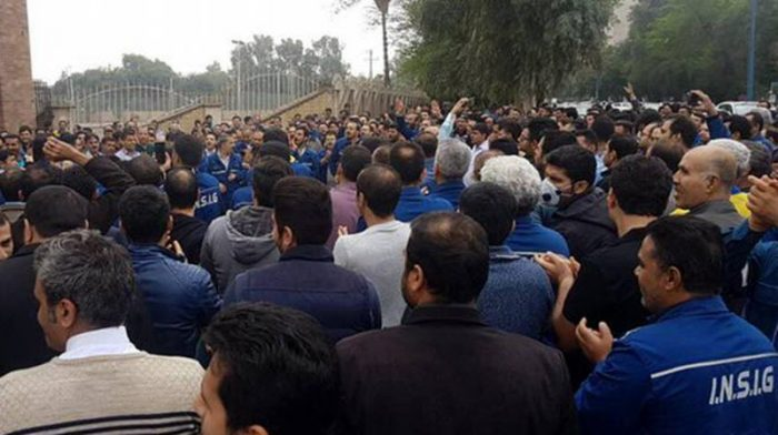 Protest by Iran Steelworkers continue.