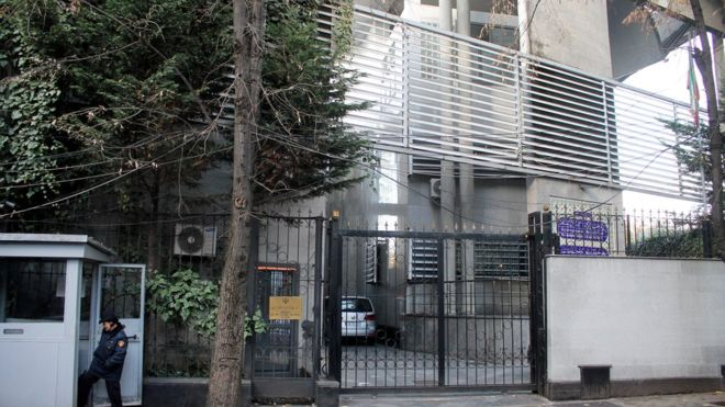 The Iranian regime's embassy in Albania