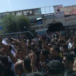 Kazerun - people hold funeral ceremony for their martyrs