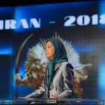 Maryam Rajavi, speaks to MEK members in Ashraf 3, Albania