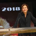 Colombian-French politician, Ingrid Betancourt, and the former presidential candidate in Colombia addresses MEK members in Ashraf 3