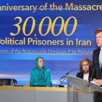 Former US Lawmaker, Patrick Kennedy speaking at a MEK rally-August 2018