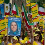MEK supporters demonstrate for a Free Iran