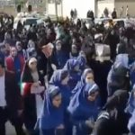 School children forced to participate in anti-demonstration rally