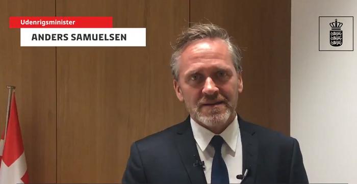 Anders Samuelsen, Denmark's Foreign Minister