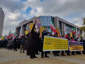 MEK supporters rally to demand EU blacklist MOIS