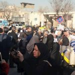 Protest by the retirees in Tehran